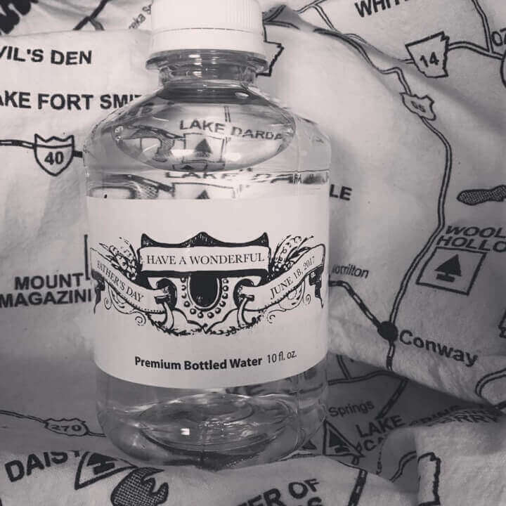 Custom bottled water for father's day